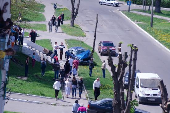 По вулиці Шевченко біля Будинку побуту сталася аварія