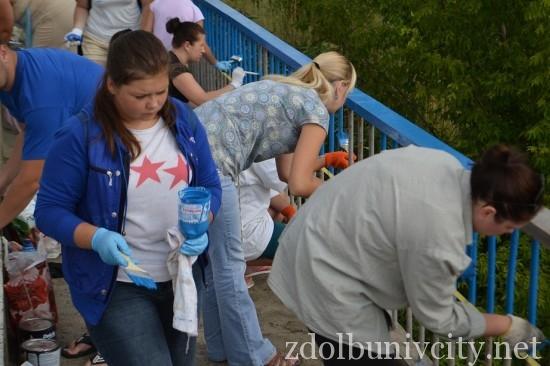 фарбування мосту у Здолбунові (5)