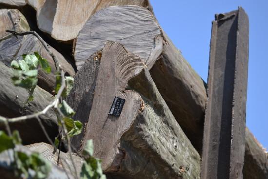 штамп на деревині