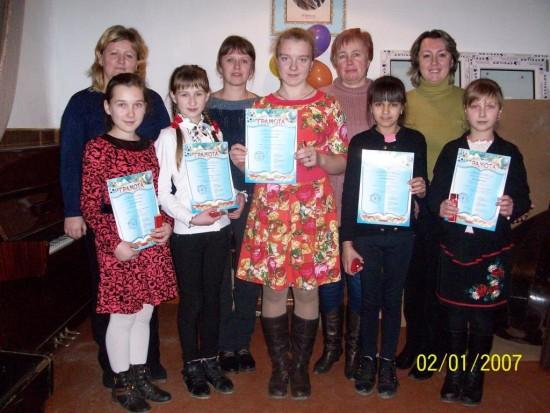 Переможці конкурсу Юний віртуоз 2015 з викладачами