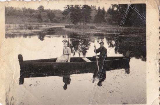 1952 р острівець серед ставу Нині затоплений