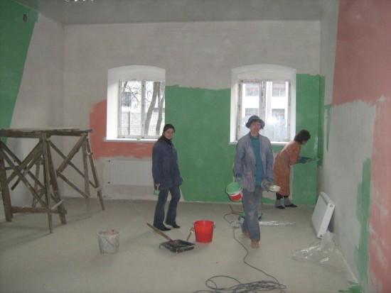 3.багато робіт проводилося власними зусиллями волонтерів